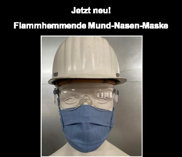 Flammhemmende (FR) Mund-Nasen-Maske