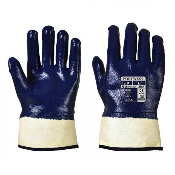 Komplett getauchter Nitril Safety Stulpenhandschuh