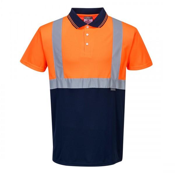 Zweifarbiges Polo Shirt