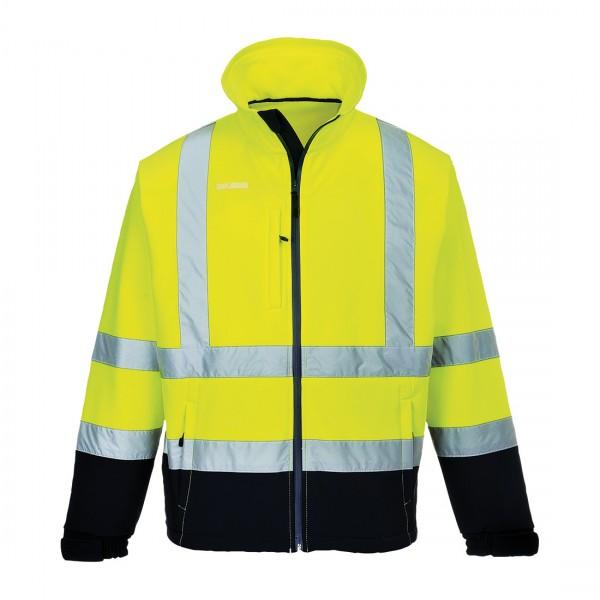 Warnschutz Kontrast Softshell-Jacke (3L)