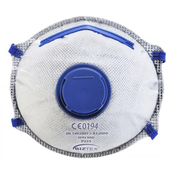 FFP2 Dolomit Feinstaubmaske mit Ventil und Karbon