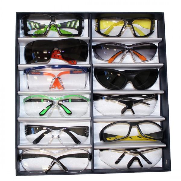 Schutzbrillen Präsentations Box