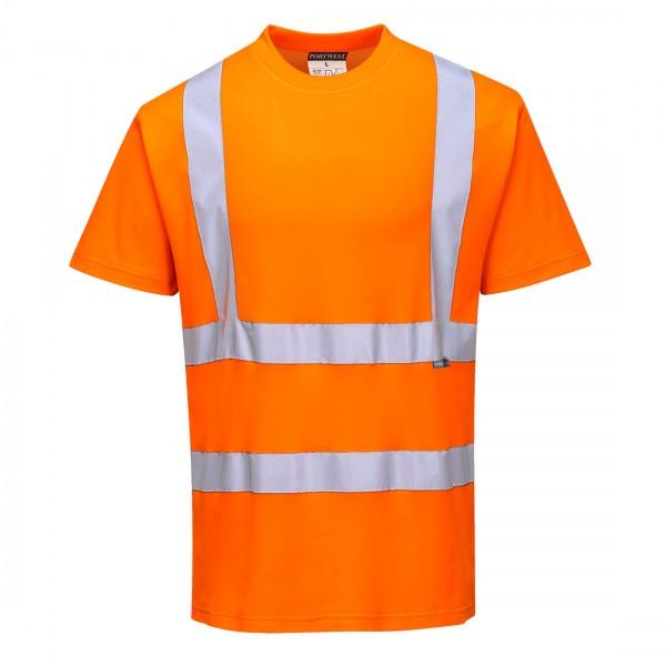 Baumwoll-Comfort-Warnschutz-Kurzarmshirt