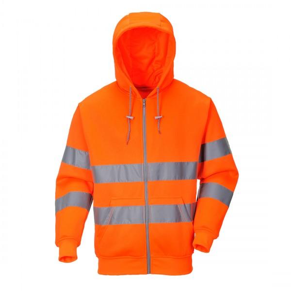 Warnschutz- Kapuzensweatshirt mit Reißverschluss