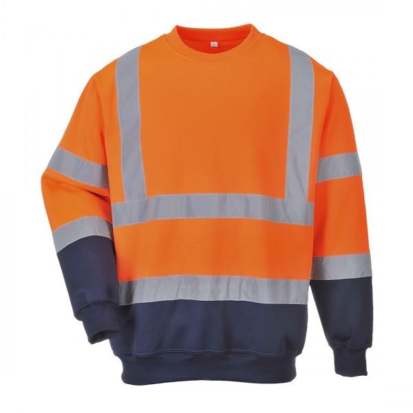 2-farbiges Warnschutz-Sweatshirt