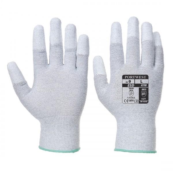 Antistatischer PU-Fingerspitzen Handschuh
