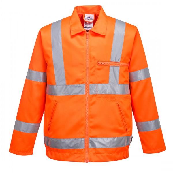 Warnschutz-Jacke aus Polyester-Baumwolle
