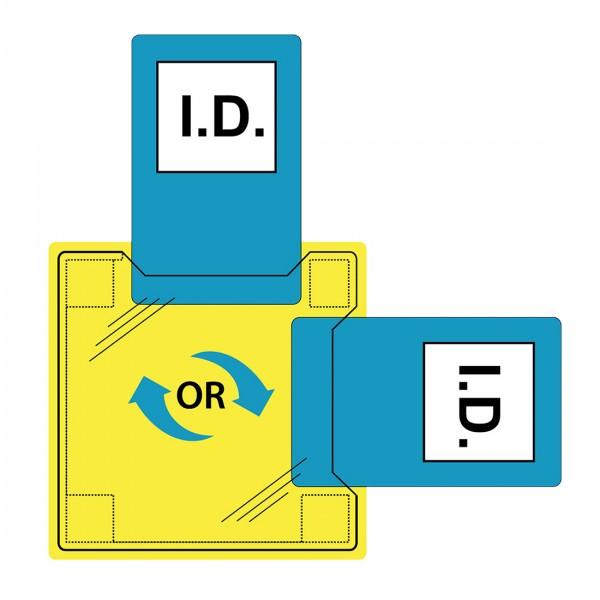 Dual ID-Halter zum Aufnähen