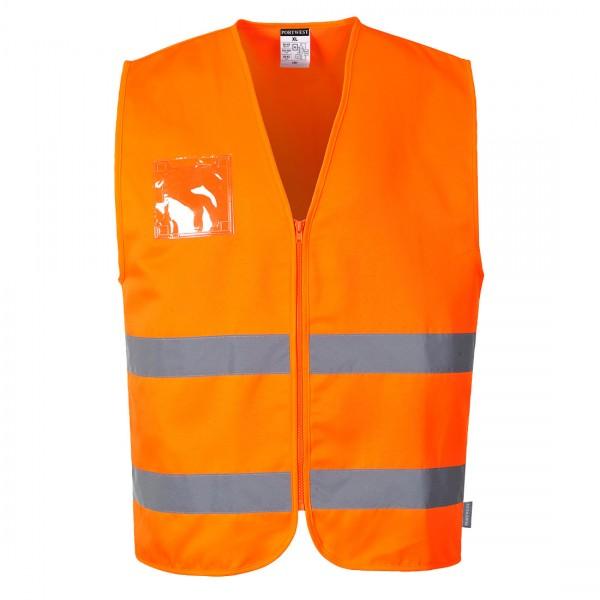 Warnschutzweste Polyester-Baumwolle