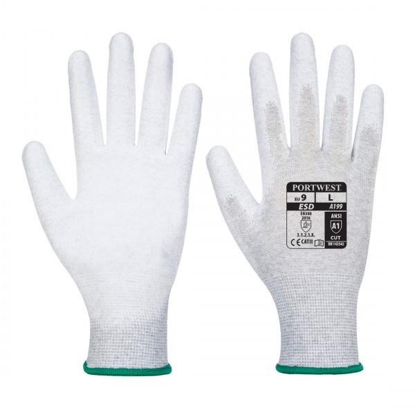 Antistatischer PU-Handflächen Handschuh
