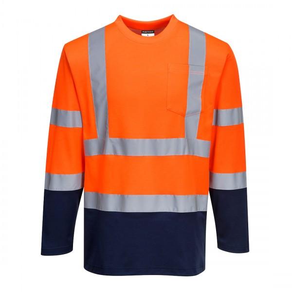 Zweifarbiges Baumwoll-Komfort-T-Shirt