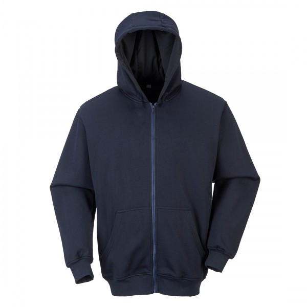 Flammhemmendes Kapuzensweatshirt mit Frontreißverschluss