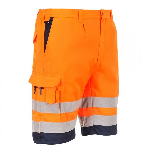 Warnschutz-Shorts aus Polyester-Baumwolle