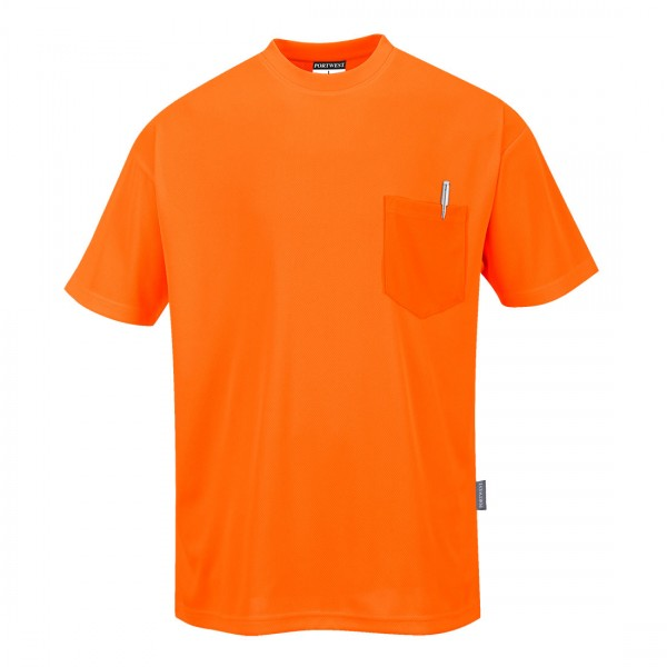 T-Shirt in Tagesleuchtfarbe