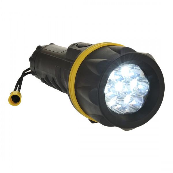 7-fach LED Gummi-beschichtete Taschenlampe