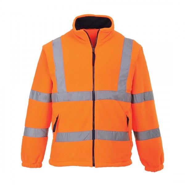 Warnschutz-Fleece-Jacke mit Netzfutter
