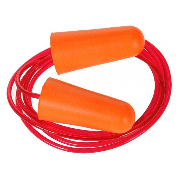 Gehörschutzstöpsel aus PU-Schaum mit Band(200 Paar)