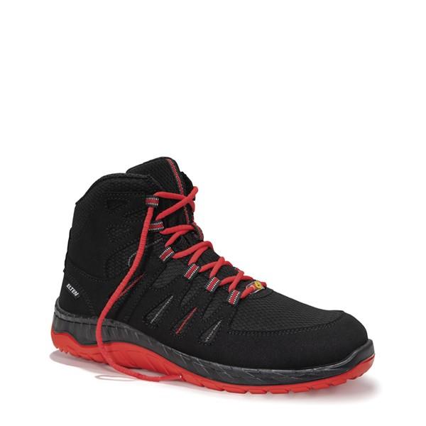Sicherheitsschnürstiefel MADDOX black-red Mid ESD S3