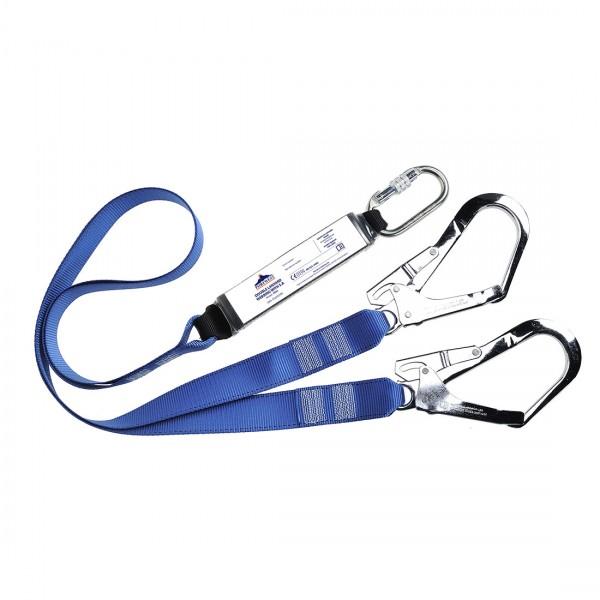 Doppeltes Haltelband mit Bandfalldämpfer aus Polyestergewebe
