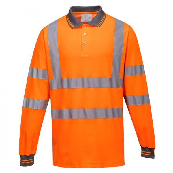 Langarm Baumwoll Komfort Poloshirt