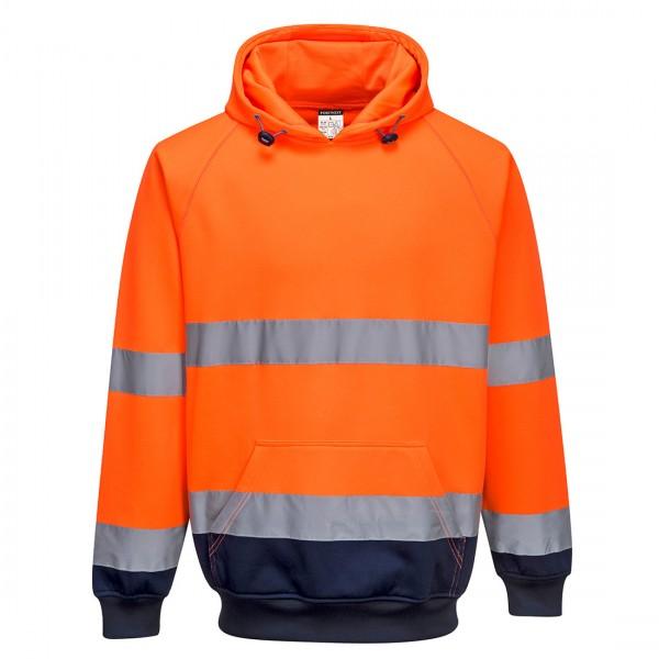 Zweifarbiges Kapuzen-Sweatshirt