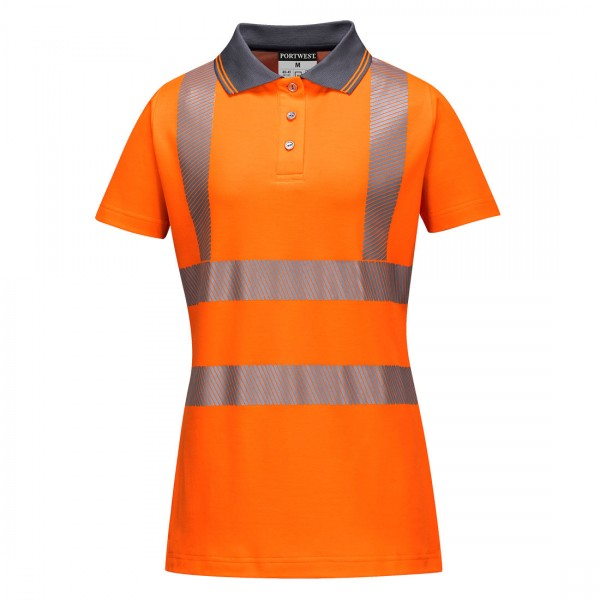 Damen Pro Warnschutz Polo Shirt