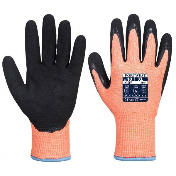 Warnschutz Winter Schnittschutzhandschuh Nitril