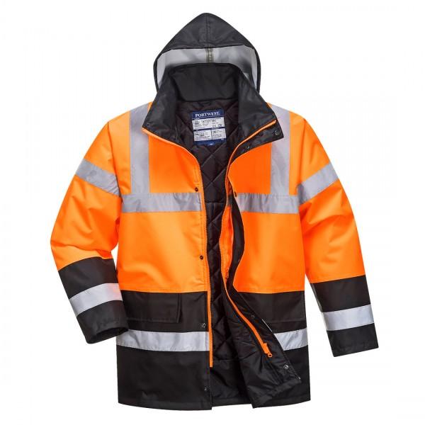 Zweifarbige Warnschutz-Verkehrs-Jacke
