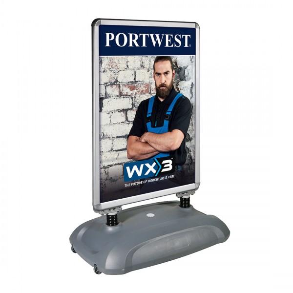 Plakathalter mit Wasserständer