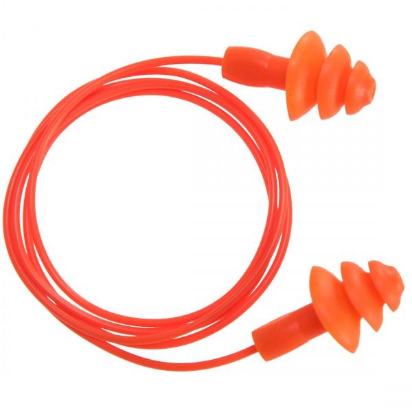 Wiederverwendbare Ohrstöpsel (TPR) mit Band (50 Paar)